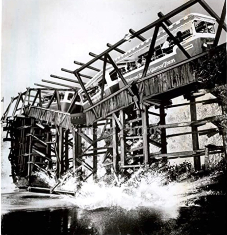 collapsing bridge Universal tour vintage pics - Google Search