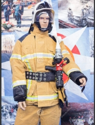 Specialized Exhibition Security, Protection, Salvation. Mannequin Of Fireman Editorial Photo - Image of expo, firemen 150044051